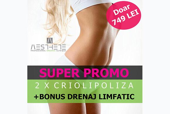 SUPER PROMO! CRIOLIPOLIZA X 2 + BONUS DRENAJ LIMFATIC -10 GRADE