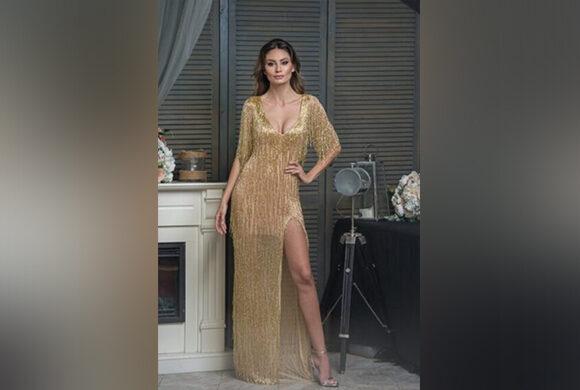 Casa de Moda VIGO – Rochie Couture GOLD SHINE – 20%